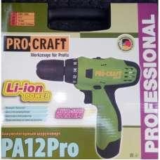 Аккумуляторный шуруповерт Procraft PA-12 PRO (Li -ion)